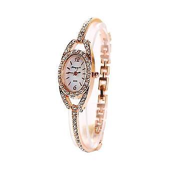 Fashion Ladies Wrist Watch Rhinestones Dial Alloy women Bracelet Quartz Watch