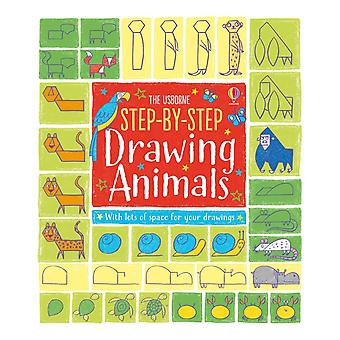 Step-By-Step Drawing Animals Paperback Usborne Publishing