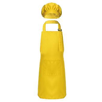 Kind/Kinder einstellbare Schürze und Chef Hut Set, Küche Kochen Uniform Backen,