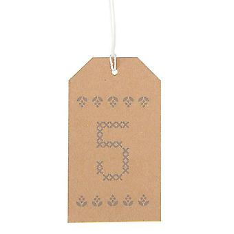 Kraft Advent Luggage Tags 1 - 24 DIY Advent Christmas Calendar Countdown