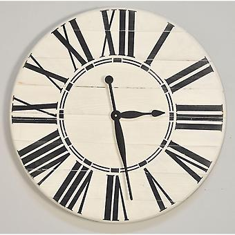 Horloge murale antique surdimensionnée de ferme blanche 30'' X 30'&apos ;