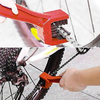 Rim Care Tire Cleaning Red, Gear Chain Maintenance Cleaner Dirt Brush Cleaning