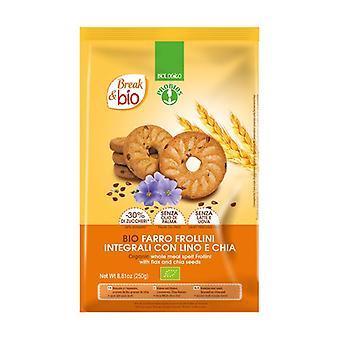 Whole wheat shortbread biscuits with flax and chia 250 g