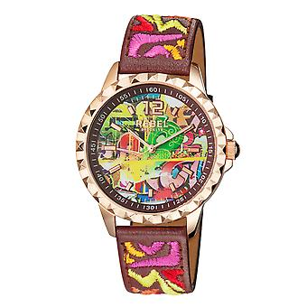 Rebel Women's Dumbo Burgundy Dial Leather Watch