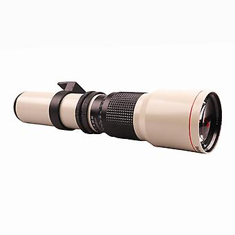 Lightdow  500mm F8-F32 Astronomical Mirror Moon Bird Watching Manual Telephoto T-Mount SLR Photography Fixed Focus Lens