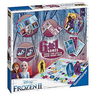 Ravensburger Juegos Congelados 2, 6 en 1 Caja de Juegos