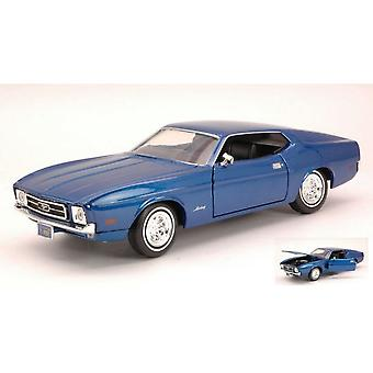 MotorMax American Classics - 1971 Ford Mustang Sportsroof - Blue  1:24