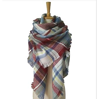 Autumn And Winter Imitation Cashmere Double-sided Colorful Plaid Square Scarf Scarf Ladies Shawl