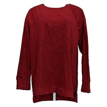 Cuddl Duds Women's Plus Top Fleecewear Stretch Crew Neck Red A368473