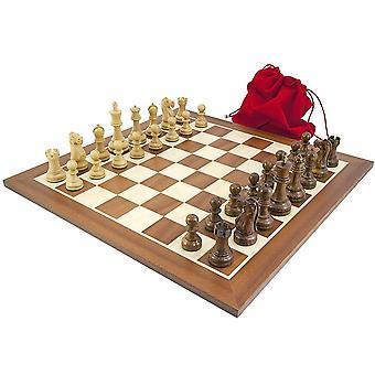 Jacob Knight Sheesham & Mahogany Chess Set