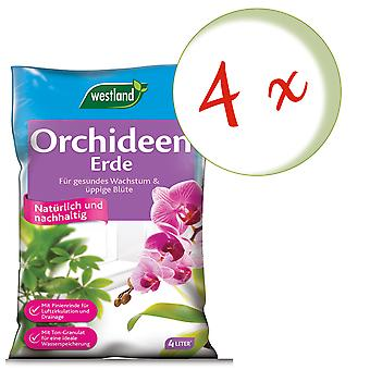 Sparset: 4 x WESTLAND® orchid earth, 4 litres