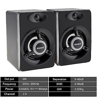 Usb Subwoofer Deep Bass Pc Speaker Portable Music Dj Soundar Computer Speakers