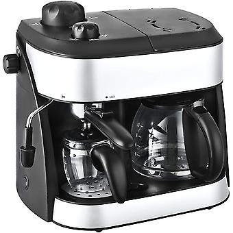 Team Kalorik 2-1 Automatic Coffee and Espresso Maker, 2 Jugs,1800W, Black/Silver