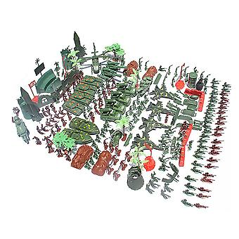 519pcs/set World War II sand table scene military base Plastic soldiers 4cm