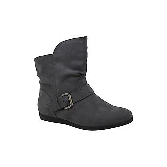 Rampage Women's Shoes Batton Suede Round Toe Ankle Fashion Boots