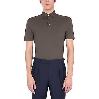 Lardini Ellpmc14450 Men's Green Cotton Polo Shirt