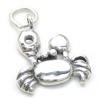 Crab Sterling Silver Charm .925 X 1 Cancer Zodiac Crabs Charms - 3716