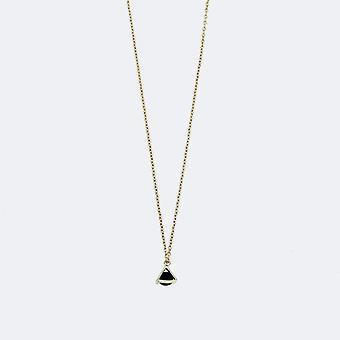 Tiny Triangle Charm Gold Necklace