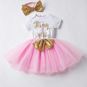 girls romper skirt and  headband outfit