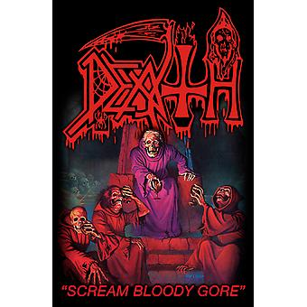 Death Poster Scream Bloody Gore band logo new Official Textile Flag 70cm x 106cm