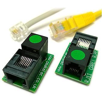 Peak RJA11 Pair of RJ11-RJ45 socket adapters