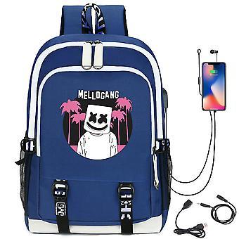 DJ مارشميلو حقيبة ظهر USB شحن حقيبة المدرسة طالب
