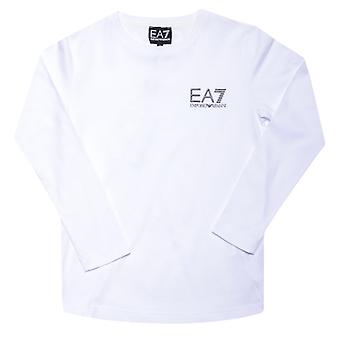 Boy's Emporio Armani EA7 Infant Long Sleeve T-Shirt in White