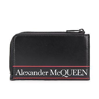 Alexander McQueen logo zip lompakko