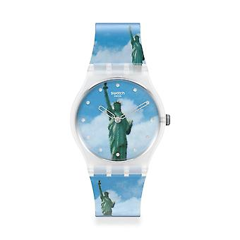 Swatch Gz351 New York Por Tadanori Yokoo Silicone Watch