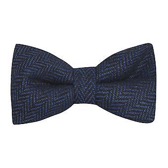 Azul medianoche & Corbata de arco de espiga negra