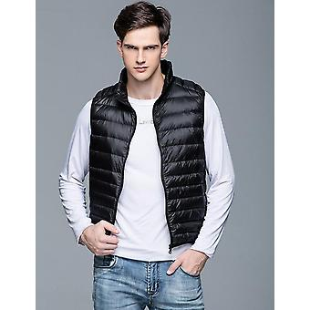 Duck Down Vest Ultra Light Jackets Homens Fashion Sleeveless Outerwear Coat