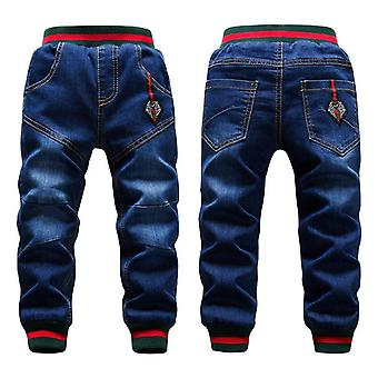 Winter Big Trousers Thicken Add Wool Pant Casual Blue Jean