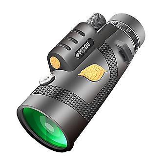 12X50 Teleskop leistungsstarke monokulare TeleskopTasche optional mit Smartphone-Halter geeignet für Wandercamping-Tourismus