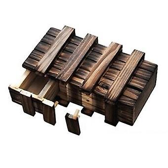 Boîte de puzzle en bois de cru