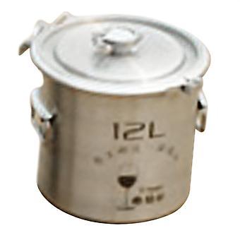 304 Rostfritt stål Fermentering Barrel Hem Brew Vin Öl Fermentorer 12l Utan kran