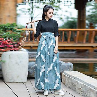 Kimono Kjole Kvinner Haori Japansk Stil Kawaii Crane Sakura Yukata Vintage
