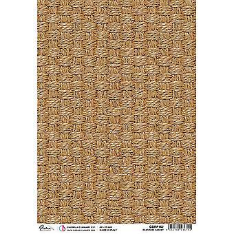 Ciao Bella A4 Rice Paper x5 - Seagrass Basket
