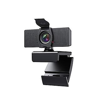 1080p Web Camera, Hd Webcam With Microphone Privacy Cover