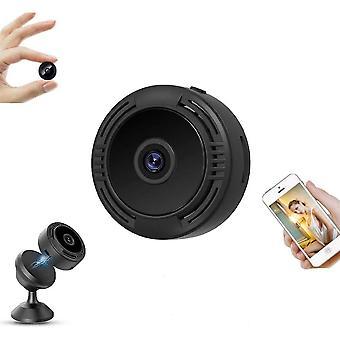 Mini WiFi Hidden Camera Small Video, Mini Wireless Infrared Spy Camera Full HD 1080P Baby Security Surveillance, Indoor / Outdoor Micro Hidden Camera (Black)
