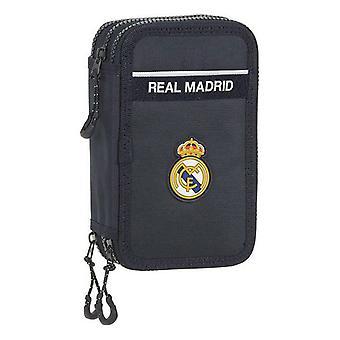 Triple Pencil Case Real Madrid C.F. Navy Blue (36 stuks)