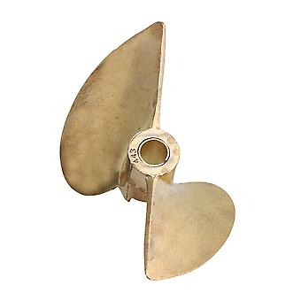 RC Boat Parts 43mm Brass Propeller with 2 Leaves P1.4 Dia 4.8mm Shaft
