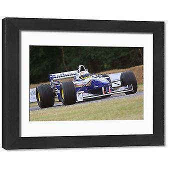 Williams-Renault FW18 F1 car from 1996 season, ex-Damon Hill, at FOS 09. Framed Photo..