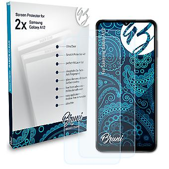 Bruni 2x Screen Protector compatible with Samsung Galaxy A12 Protective Film