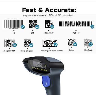 FengChun Kabelgebundener 2D QR Barcode-Scanner mit Halterung - Handheld Automatiker