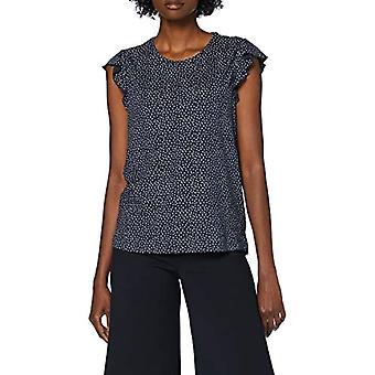 MUSTANG Alina Ub Ruffle T-Shirt, Blue (Blau 11770), Small Woman