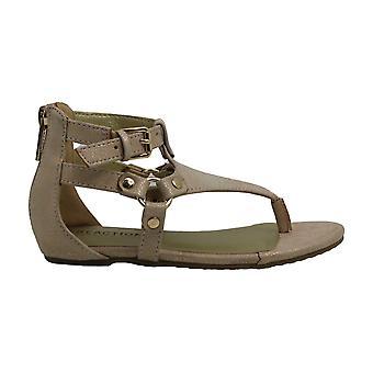 Kids Kenneth Cole Reaction Girls Kiera Shine Fabric Buckle Ankle Strap Gladiator Sandals
