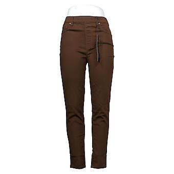 DG2 por Diane Gilman Women's Pants Denim 5-Pocket Jegging Brown 718720