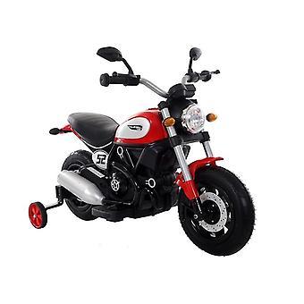 Motor pentru copii controlat electric cu roți laterale – Roșu