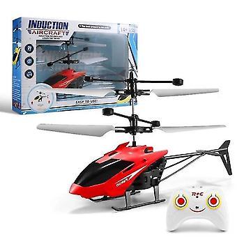 Rote mini rc Hubschrauber Infrarot-Induktion S-Fernbedienung Indoor Outdoor Kinder Spielzeug dt5486