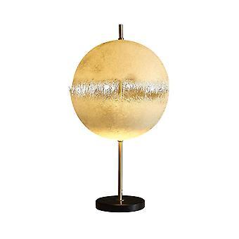 Led Creative Eggshell Lamp, 35CMLED 10W Resin Table Lamp, Copper Color